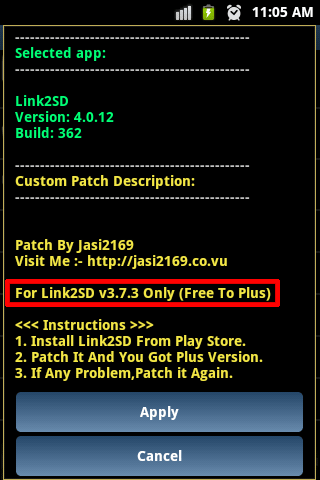 Custom patch description